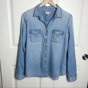 J. Crew Long Sleeve Keeper Chambray Shirt size 4